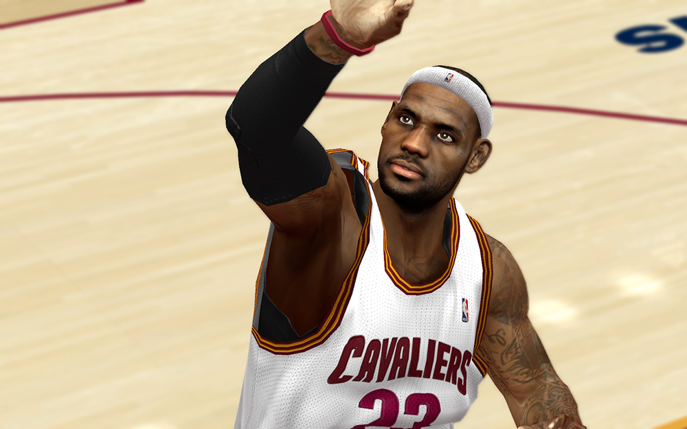 LBJ Cyberface Patch HD Texture