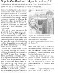 Candidature Cantonales 2011