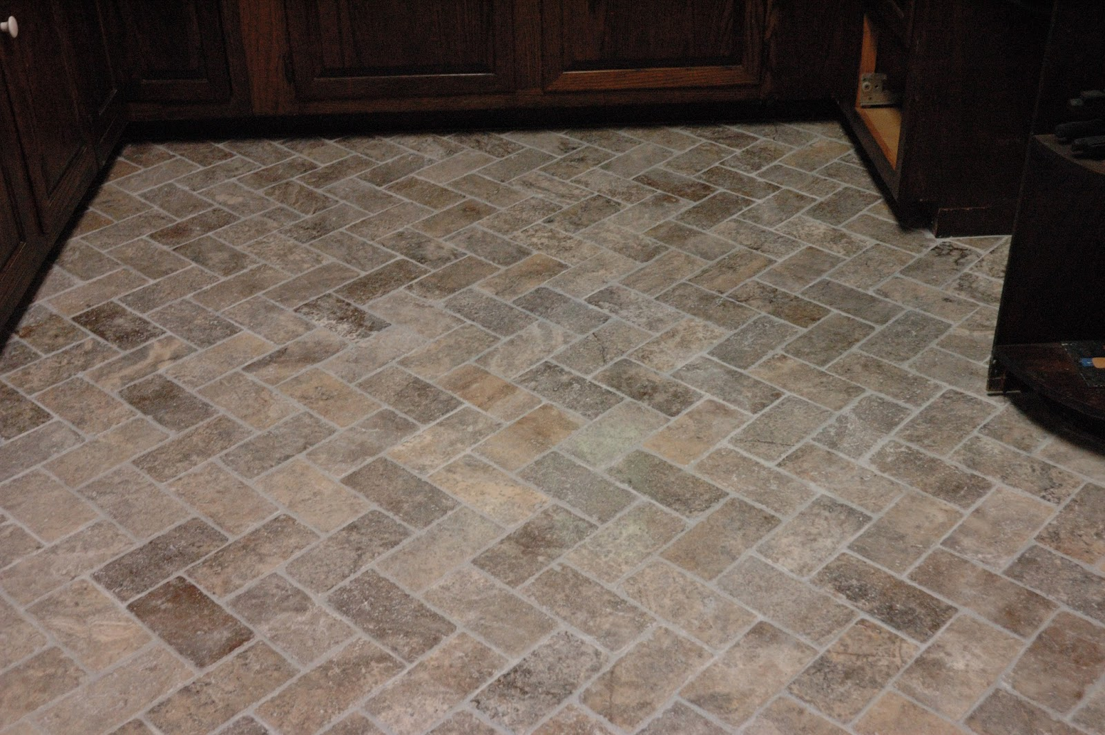 Stone Kitchen Floor Tiles Custom Bathroom Remodeling Natural Stone Herringbone Tile Floor