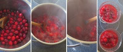 Zubereitung Cranberry-Kompott mit Ingwer und Vanille