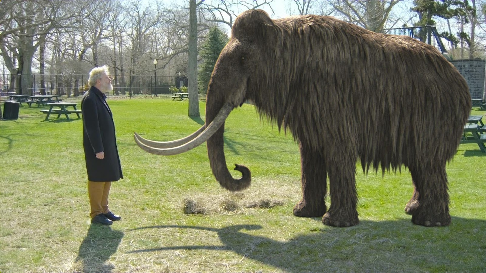 wooly mammoth and man