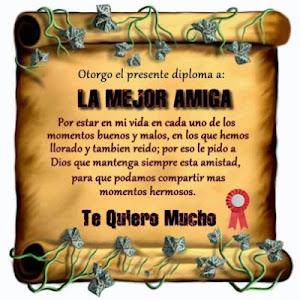Gracias M.del Carmen por el presente diploma de amistad¡¡