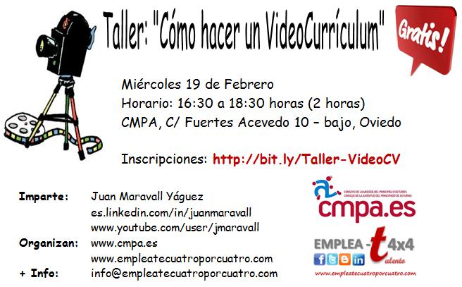 Taller de Vídeo Currículum en Oviedo