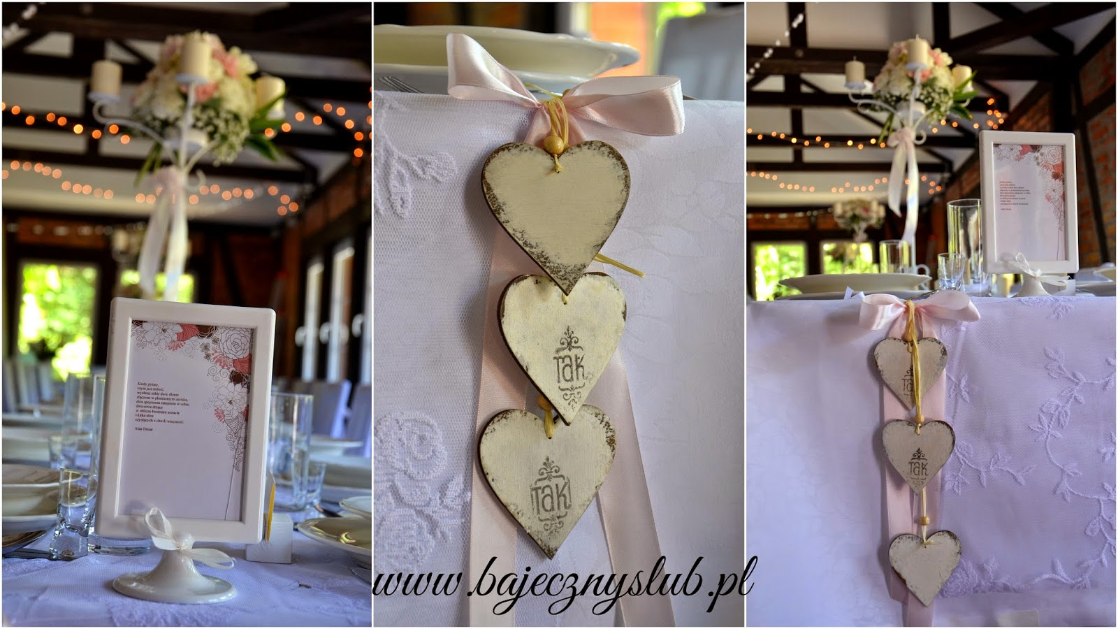 Bajeczny ślub świdnica Dekoracja Sali Weselnej Chata Nad Sztolnią