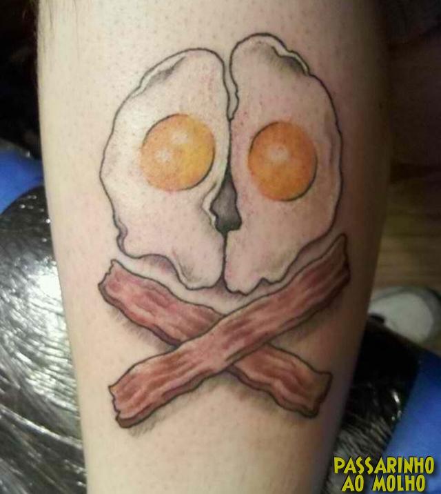 tatuagem ovos e bacon