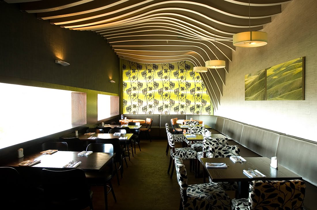 Best restaurant interior design ideas rosso restaurant for Restaurant moderne