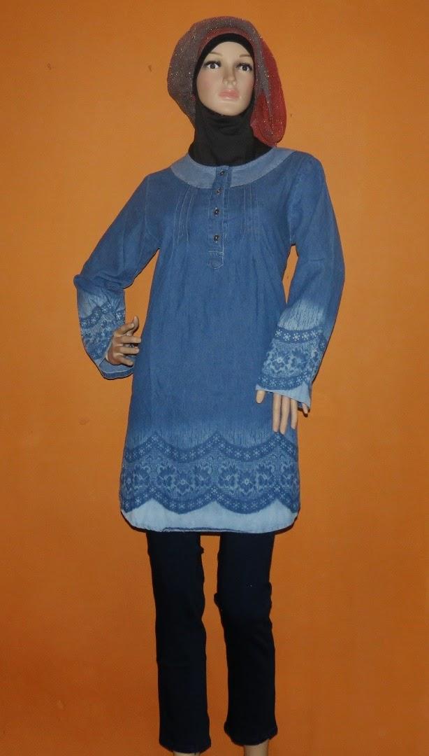 Blouse Jeans Fashion Printing AJ942