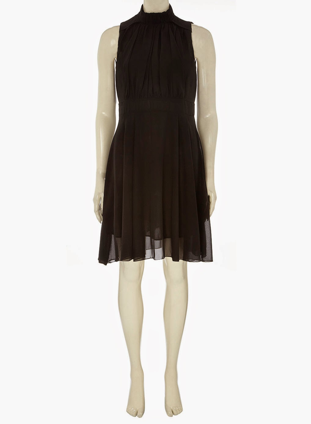 dorothy perkins chiffon dress, dorothy perkins high neck black dress,
