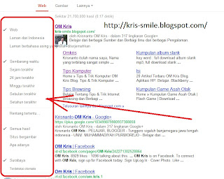 Tampilan google lama
