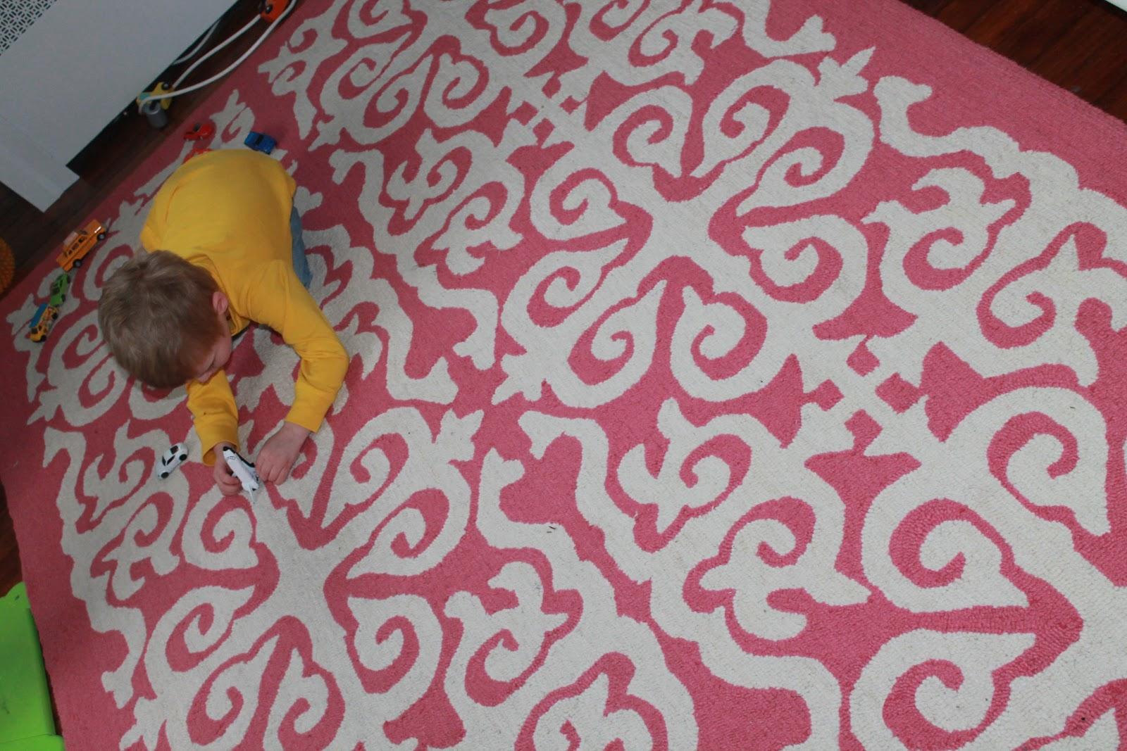 baby girl nursery rug reveal the chirping moms. Black Bedroom Furniture Sets. Home Design Ideas