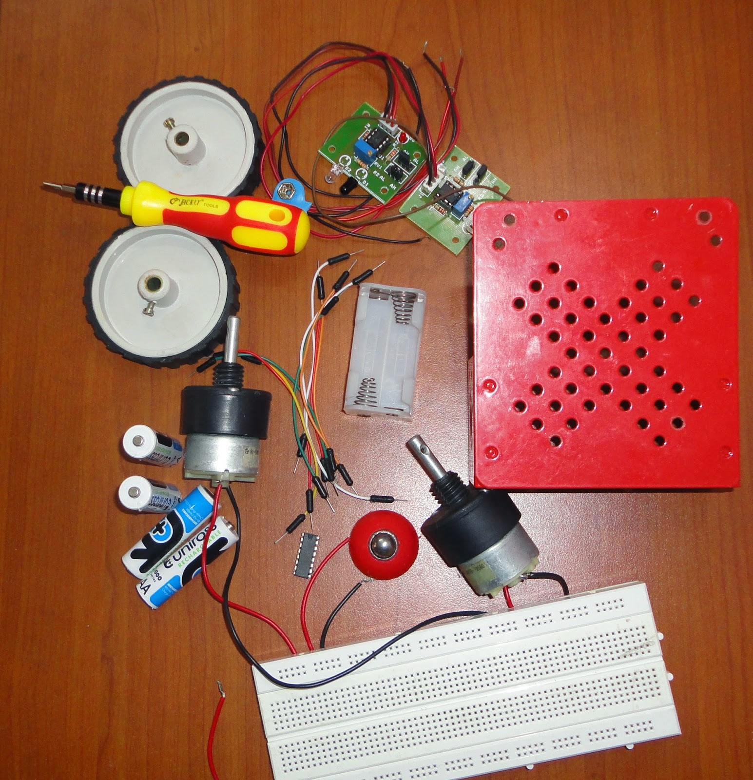 a simple line following robot without microcontroller
