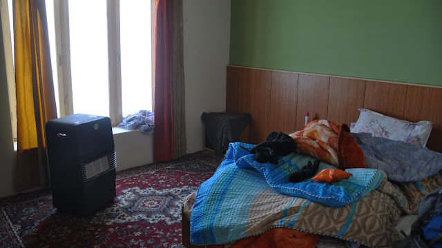 Leh Ladakh Himalayas mountians flight hotel room winters