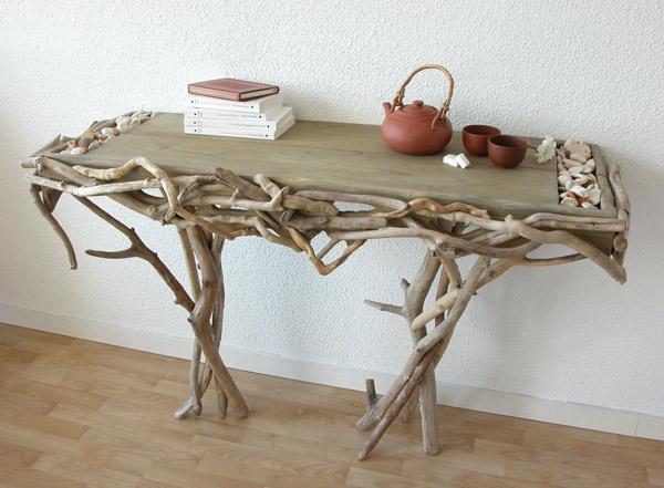 Matin lumineux bois flott s driftwood - Console en bois flotte ...
