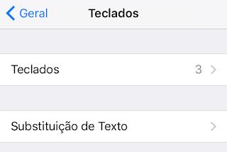 Substituição de texto - iOS 9 beta 5