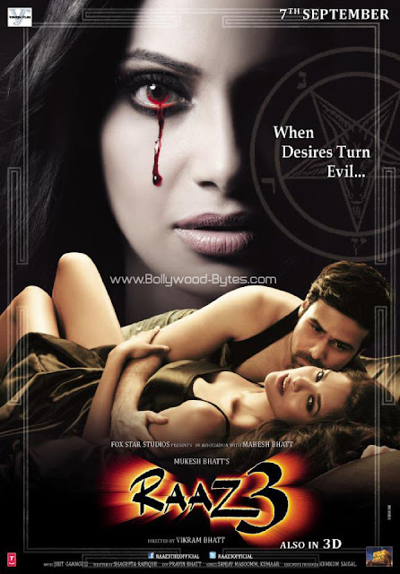 Exclusive New Raaz 3 Horror Poster featuring Esha Gupta, Esha Gupta, Emraan Hashmi and  Bipasha Basu