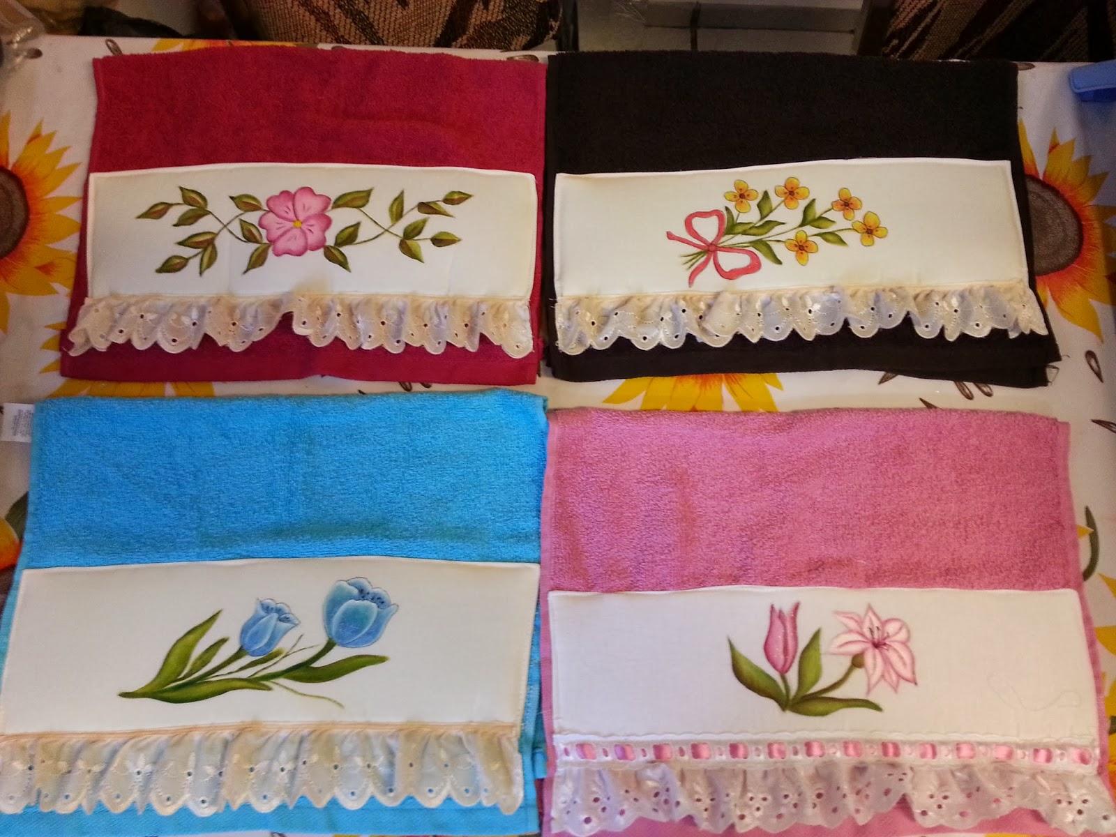 Alegra en las flores con pinceladas de colores Toallas pintadas