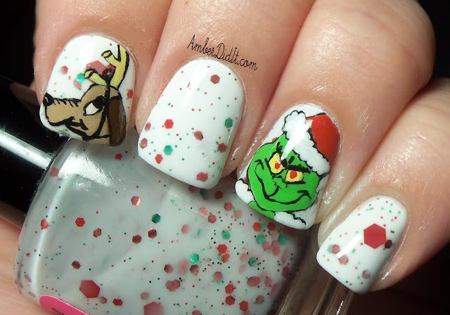 You're a MEAN one, Mr. Grinch~Grinch Nail Art