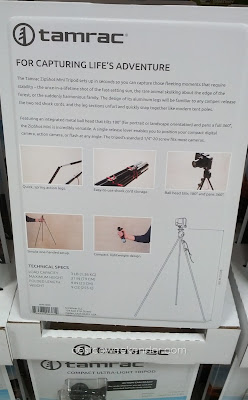 Tamrac Zipshot Mini Tripod – Sets up in seconds so you can capture those fleeting moments