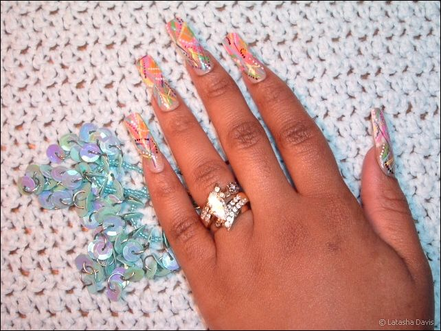 Long French Manicure Nail Art and Intricate Designs by Latasha ...