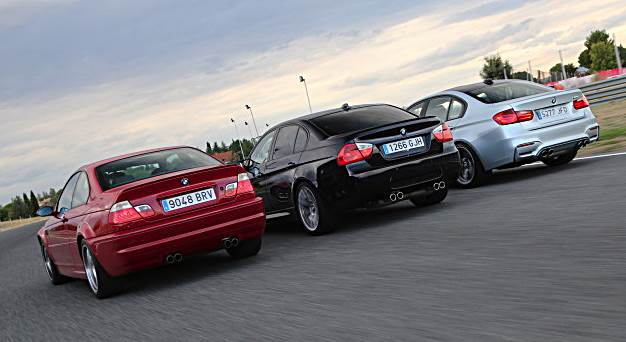 All generations BMW M3 get together for a photoshoot