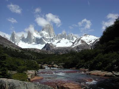 Fotografia del parque nacional los glaciares en Argentina