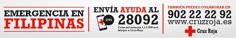 Ayuda para Filipinas. Cruz roja.