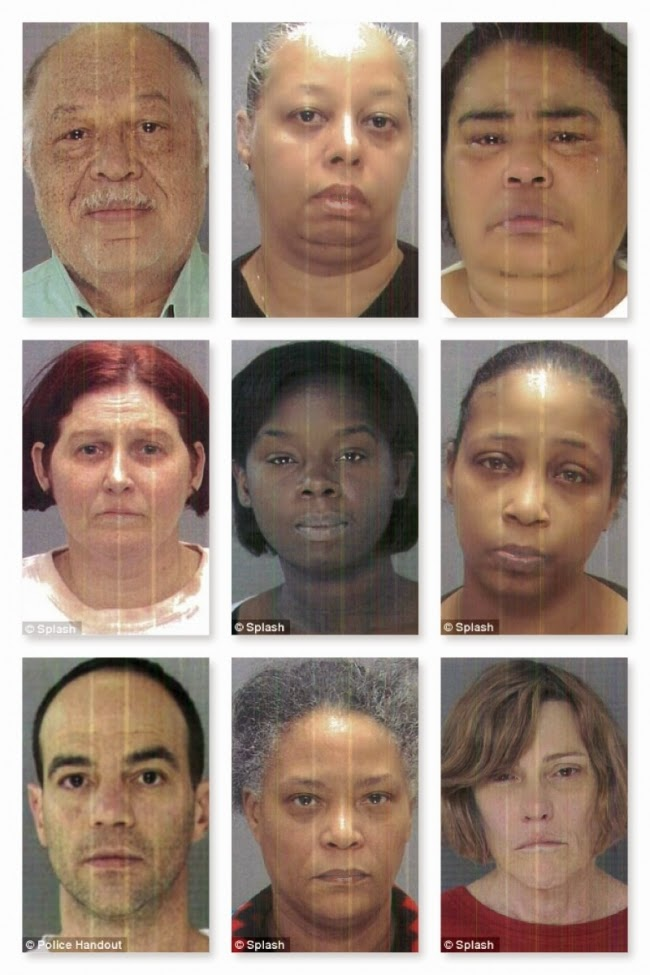 Mug shots of Kermit Gosnell and his employees