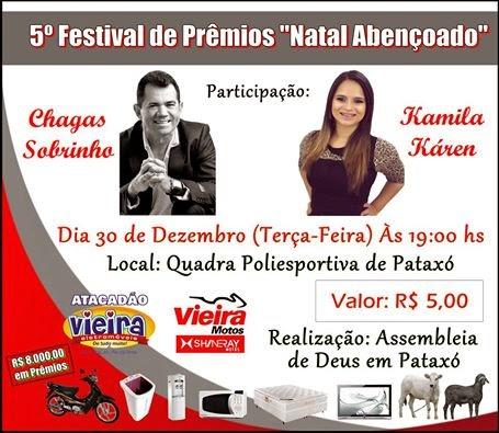 """5º Festival de Prêmios """"Natal Abençoado""""."""