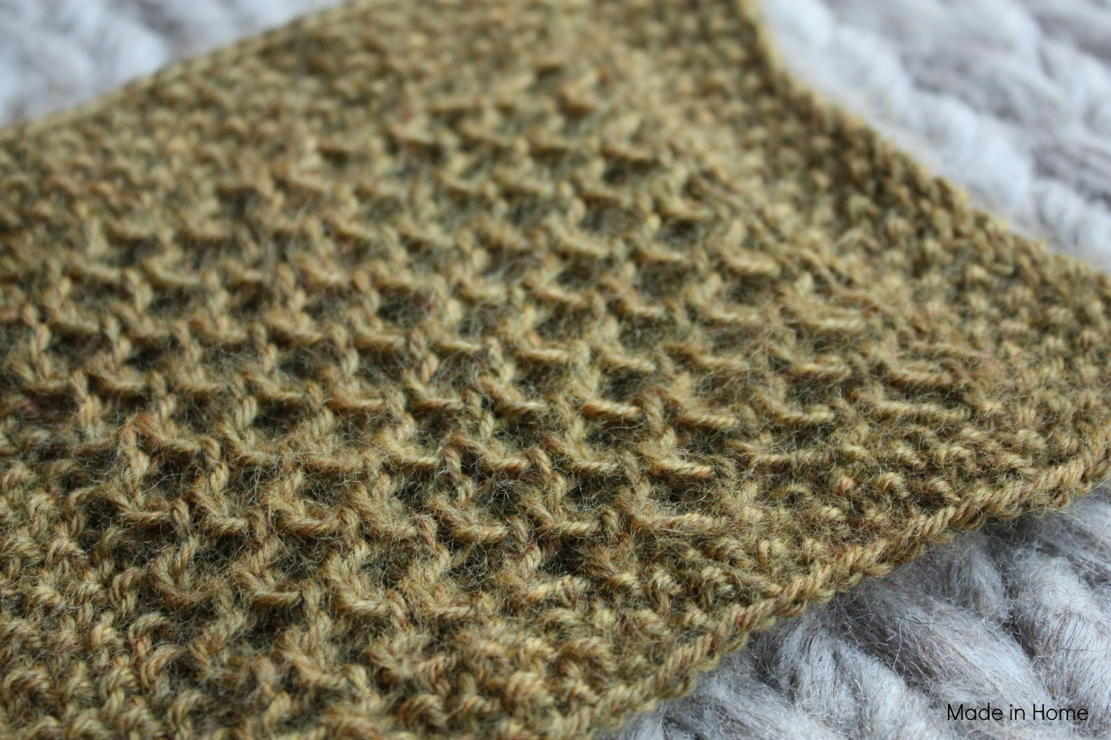 Honeycomb Knitting Pattern : Made in Home: Study of honeycomb :: Knitting