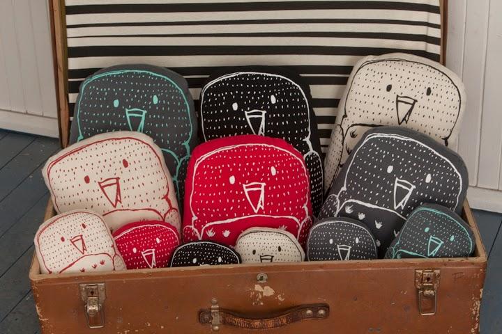 Aarrekid owl cushions for autumn/winter 2014