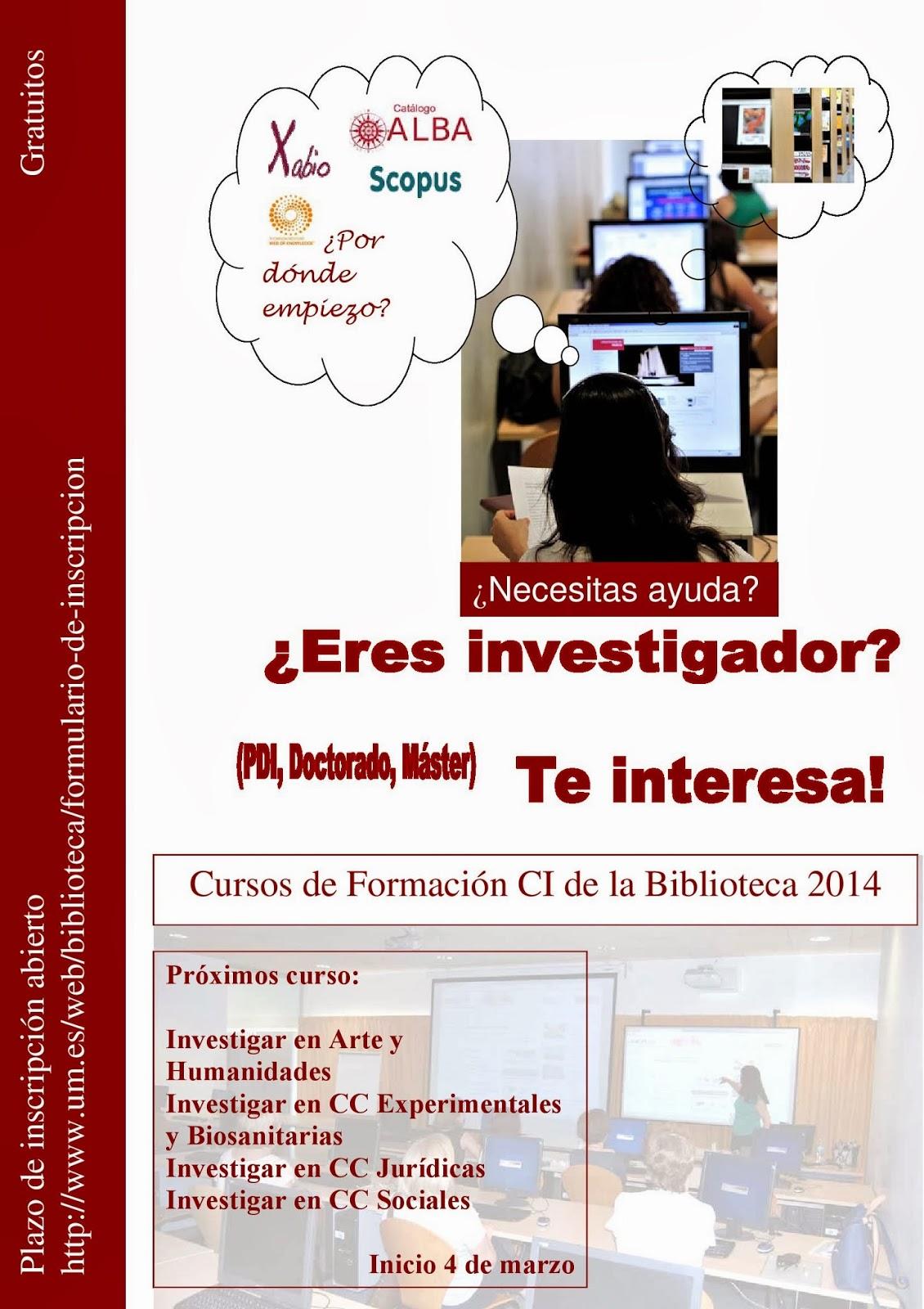 Abierto plazo de inscripción en el Plan de Formación de la Biblioteca 2014.