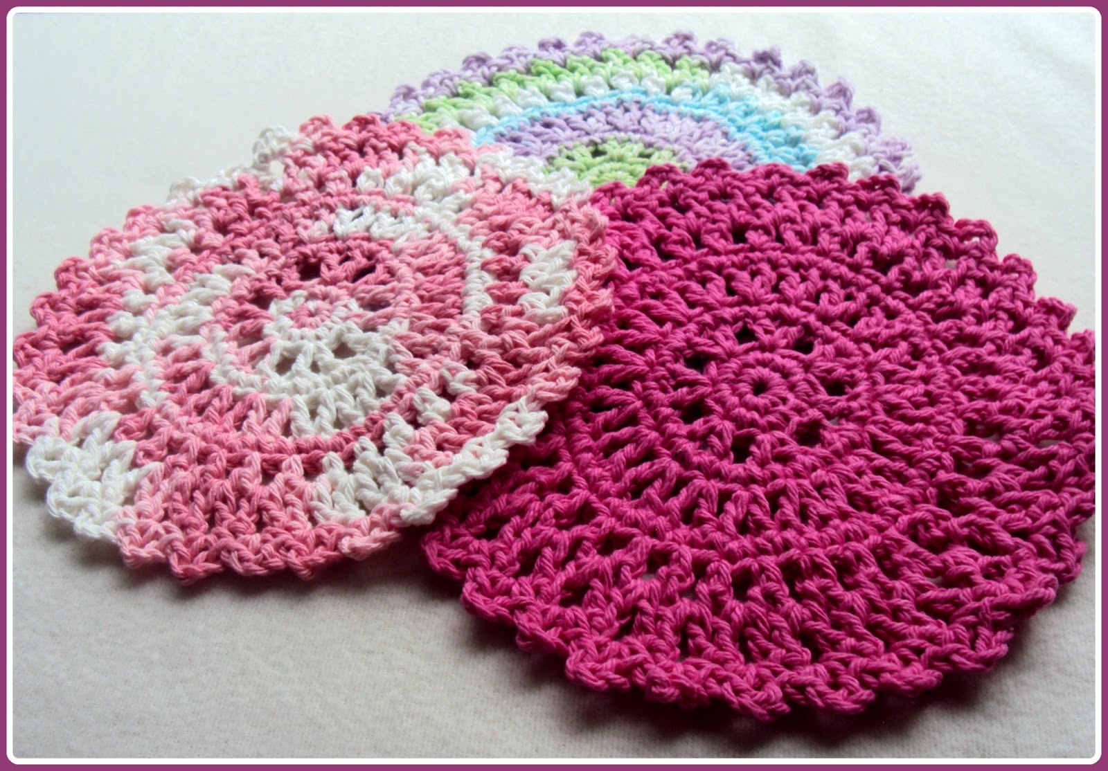 Crochet Patterns Using Cotton Yarn : ... up quickly and beautifully when using both acrylic or cotton yarns