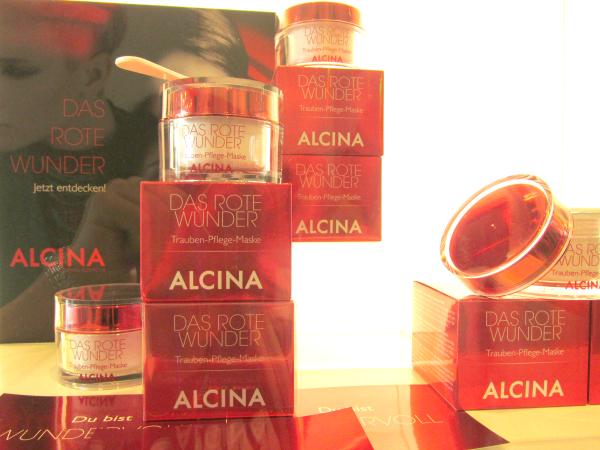 ALCINA Blogger Event Das Rote Wunder Pflegemaske
