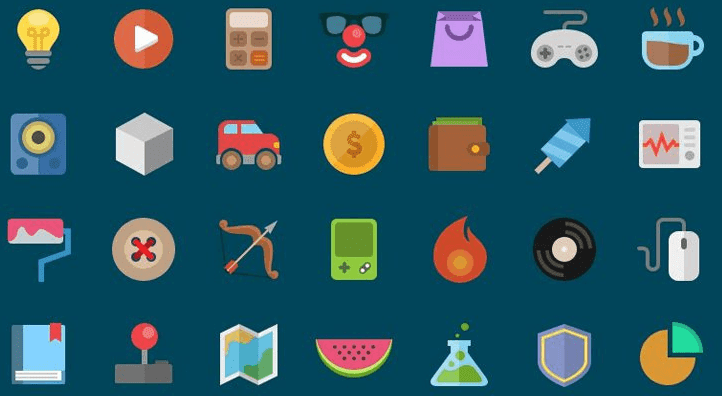 Free Flat Icons PSD