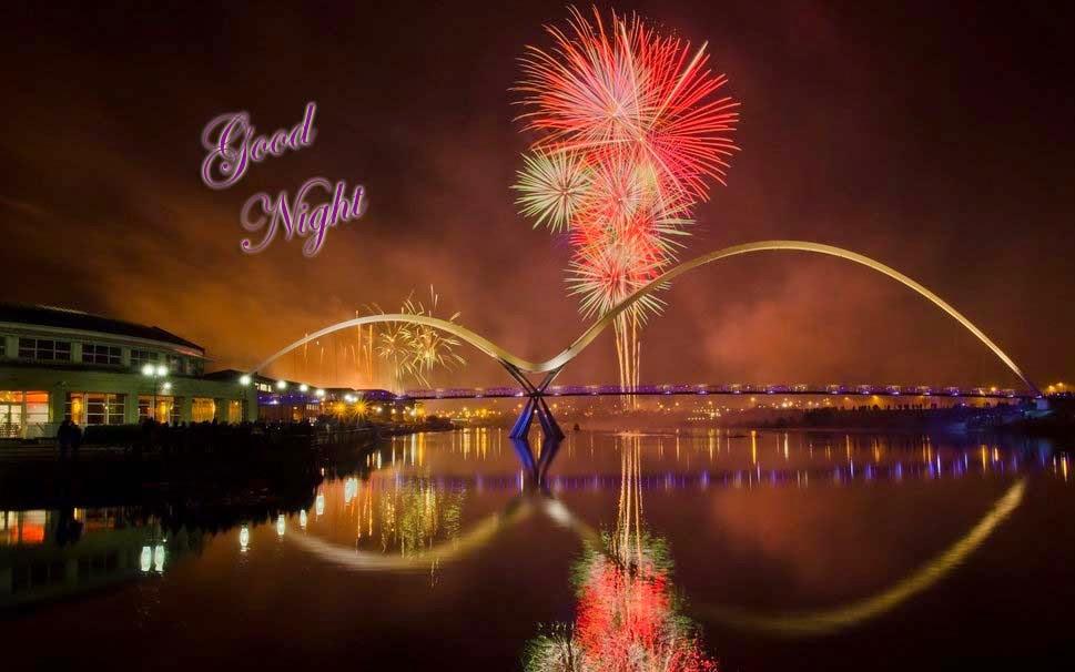 Fireworks Stockton Bridge City River Night
