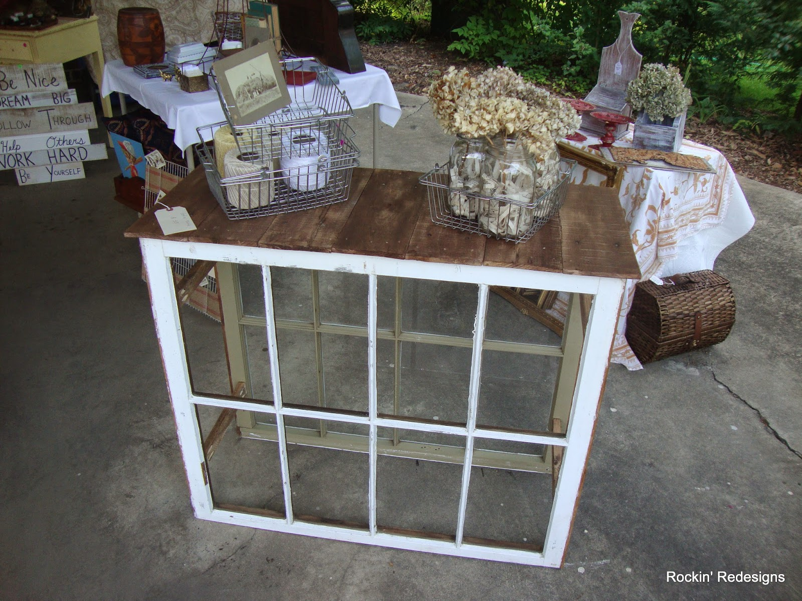 Furniture made from old windows