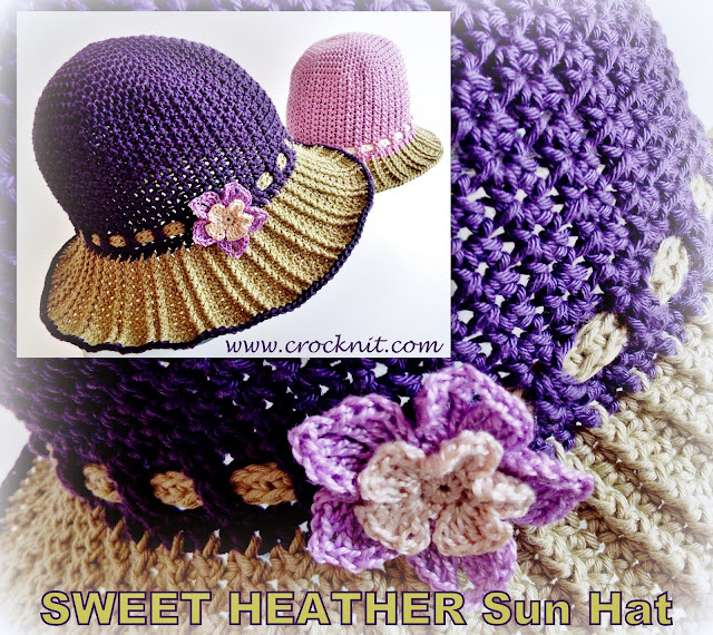 sun hats crochet patterns cotton short long brim