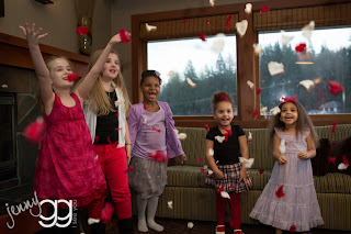 Children throwing rose petals - Patricia Stimac, Seattle Wedding Officiant