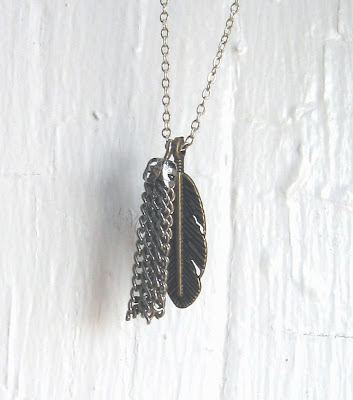 feather and tassel necklace