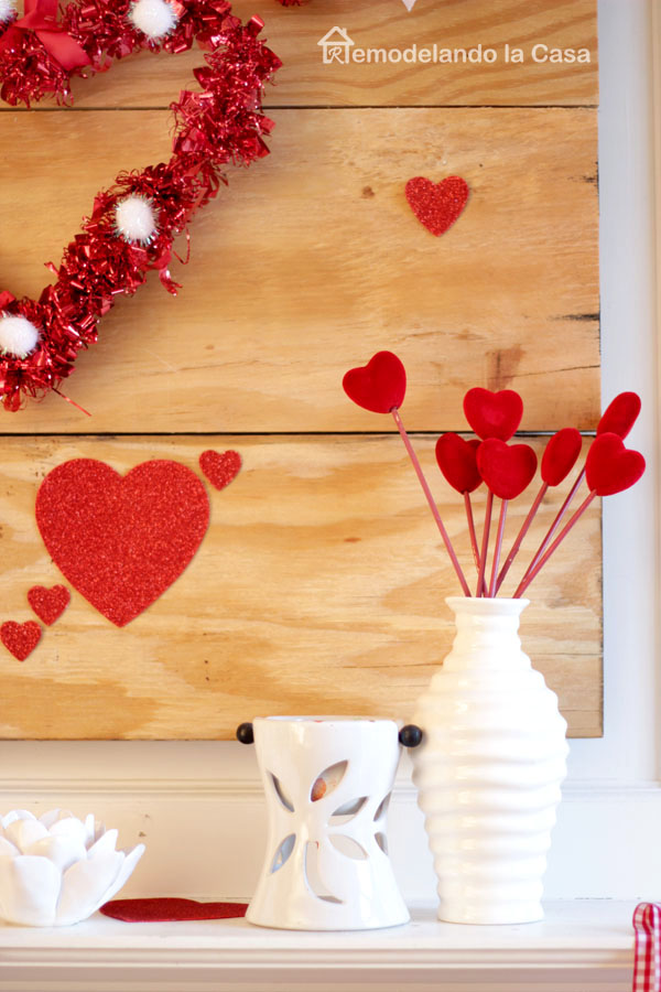 red toothpick hearts decor - holidays