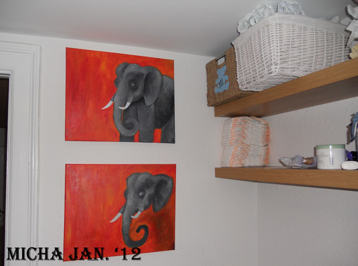 Snoretoppen: Elefant malerier