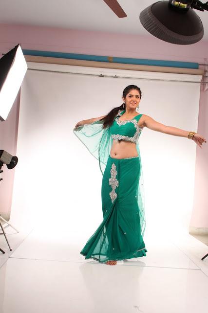 deeksha seth green saree photos