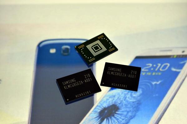 Samsung empezo a fabricar sus memorias rápidas de 64 GB