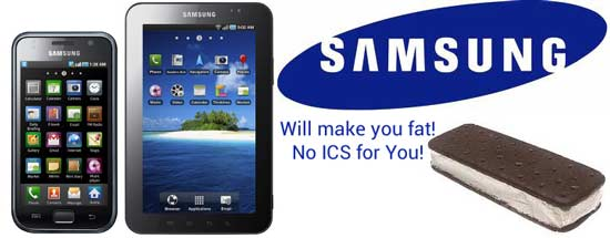 ice cream sandwich firmware for samsung galaxy tab and galaxy s