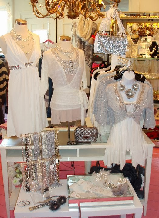 sparkly white flourish boutique