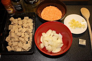 Ingredients for Quorn Dansak