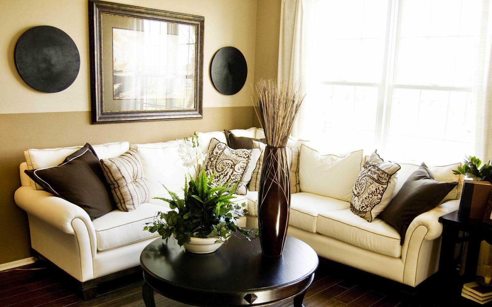 hiasan ruang tamu sederhana