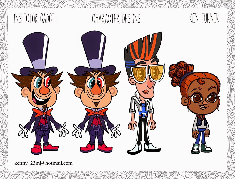 Toon Boom Character Design Tutorial : Ken turner portfolio inspector gadget season