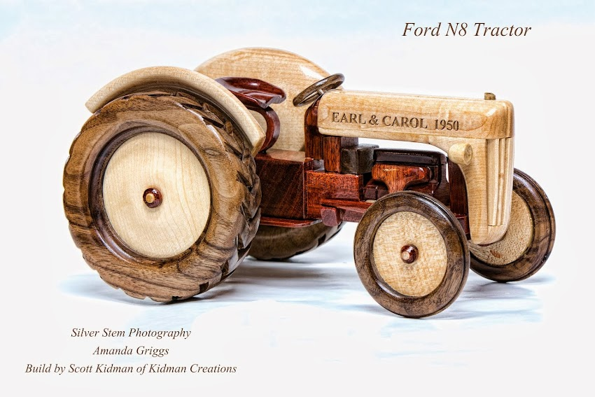 Kidman Creations: Hand Crafted Wood Toys and models of large trucks and trailers which include semi-trucks, fire trucks, tankers and many others. Send us a picture of any vehicle or equipment and we will produce a scaled model using hardwoods…