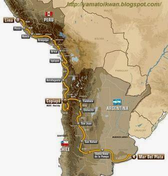 Peta Rute Dakar 2012